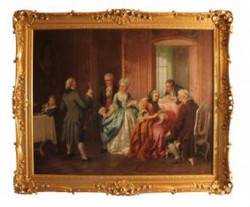 33: Important 19th c. English Oil on Canvas, depicting