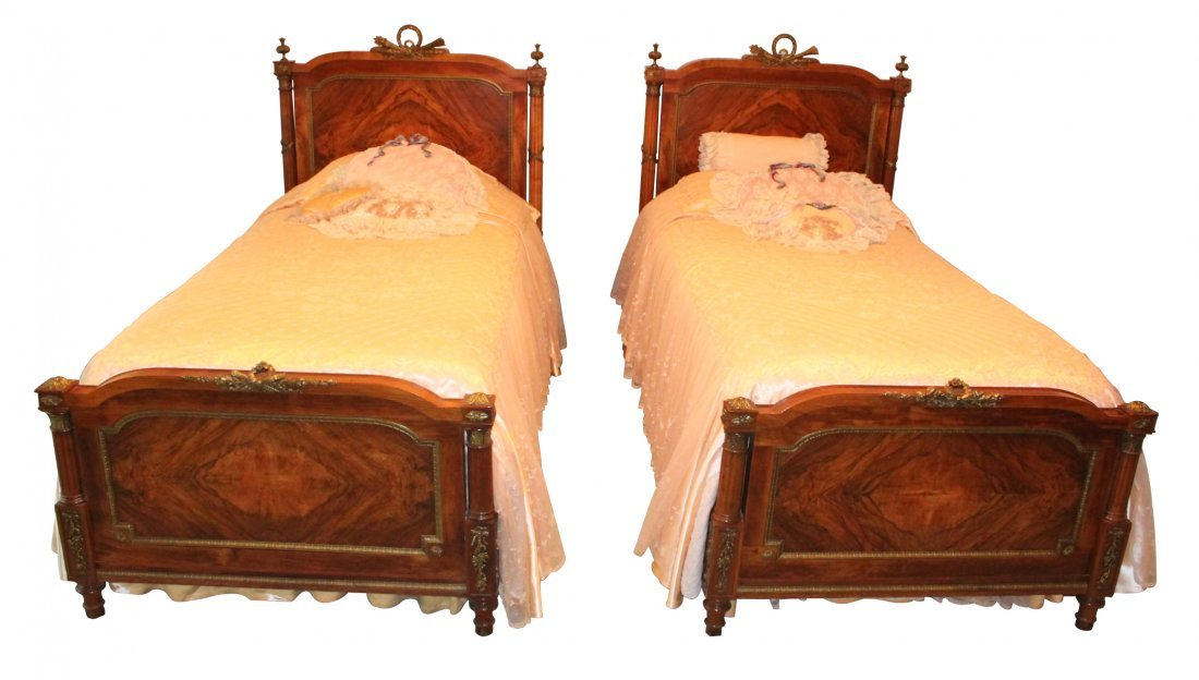 Superb Pair of French Louis XVI Twin Beds