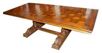 72A: Custom Made Solid Walnut Dining Table