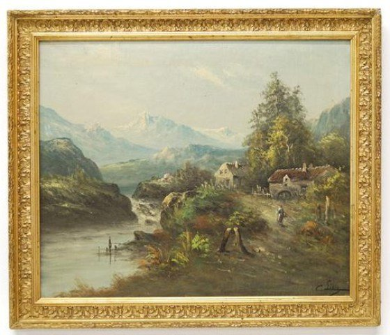 Late 19th c. Continental Oil on Canvas