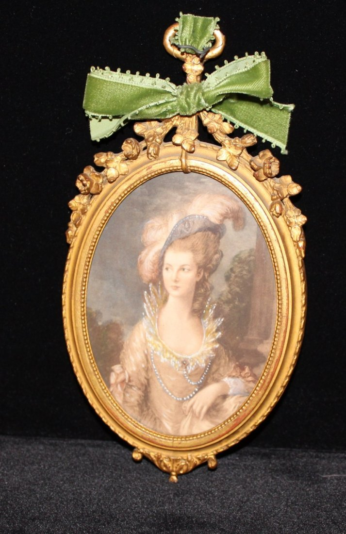 French oval portait of lady