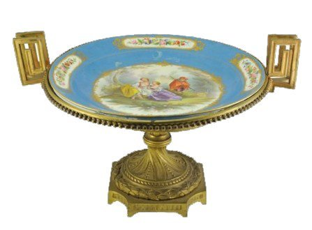 Sevres Style Two Handled Compote