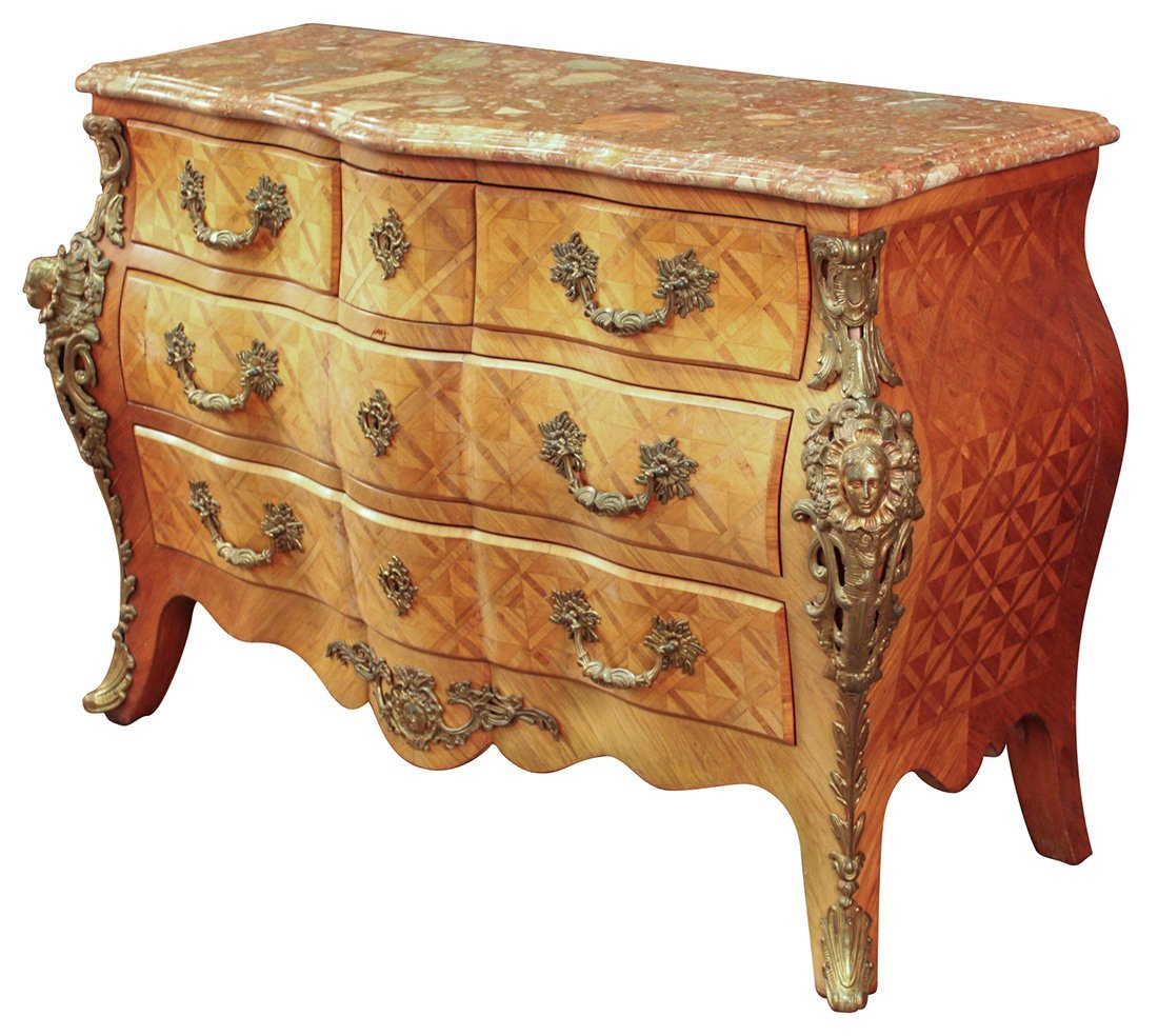 A French Kingwood Marble Topped Commode