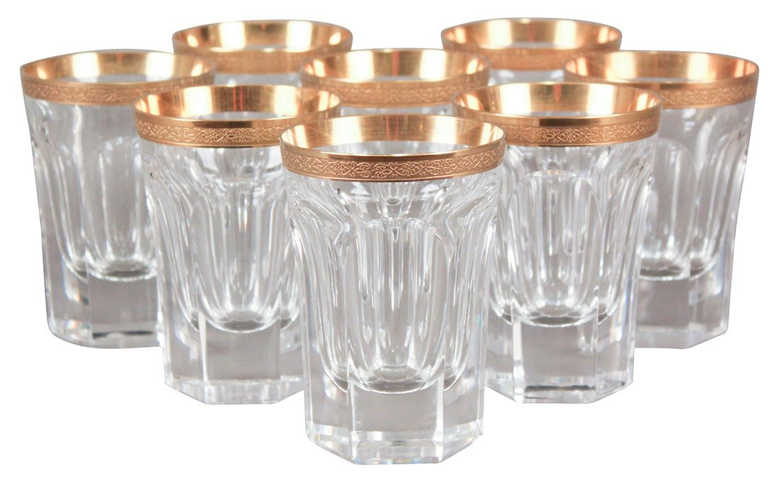 A Set Of 8 Moser Crystal Tumblers - CORRECTION