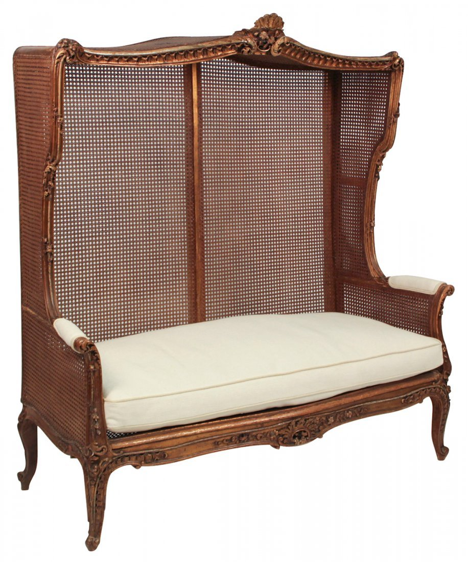 A 19th Century French Louis XV Caned Settee