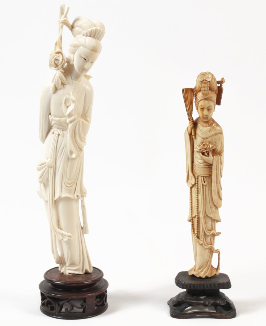 Two Asian Ivory Quanyin Figures