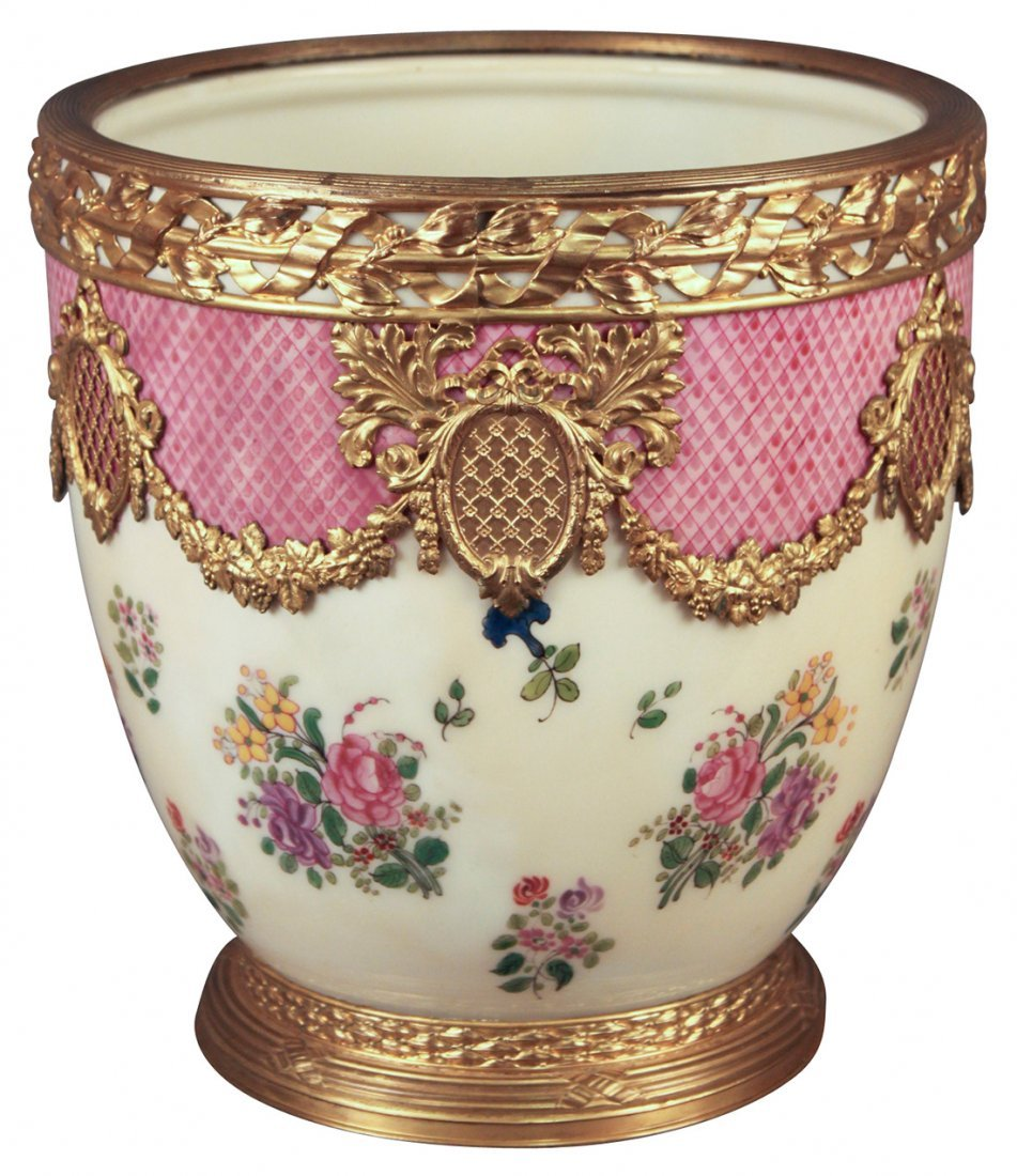 A 19th Century French Sevres Cache Pot