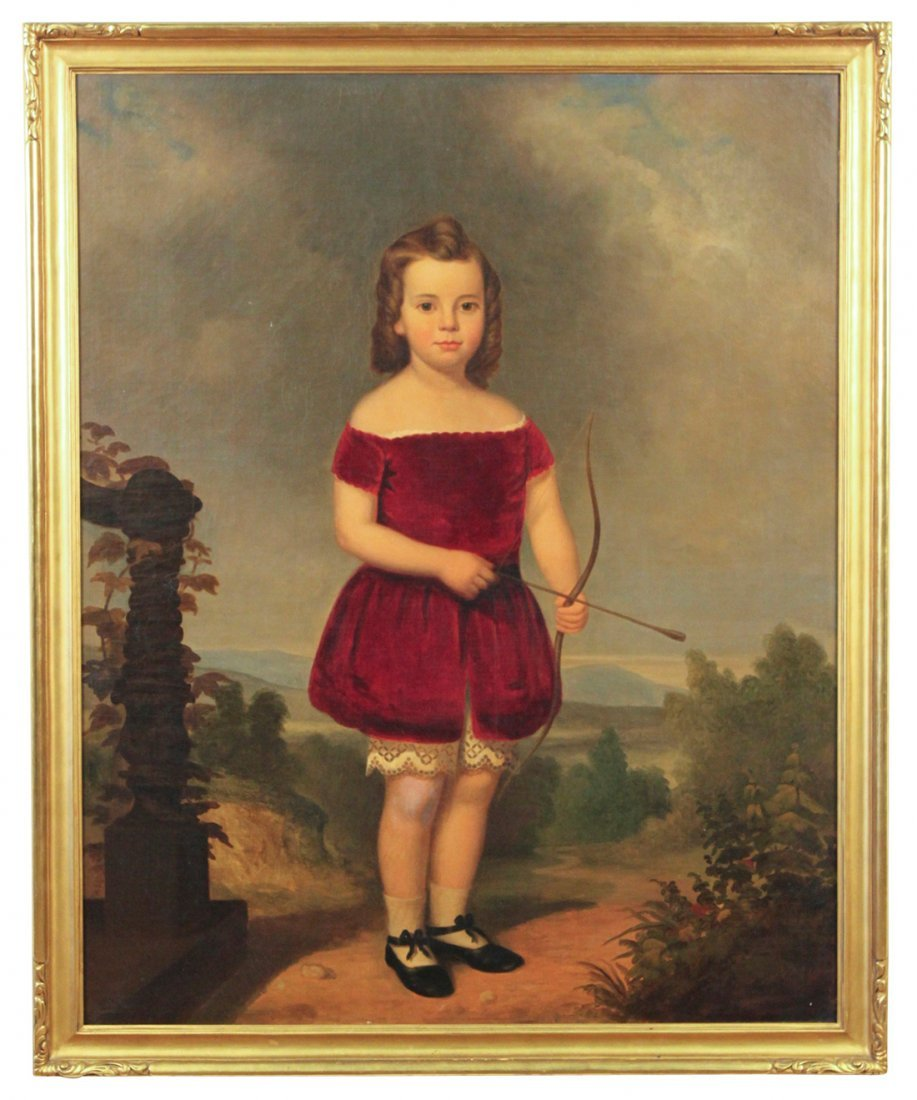 An American School Portrait Of Girl