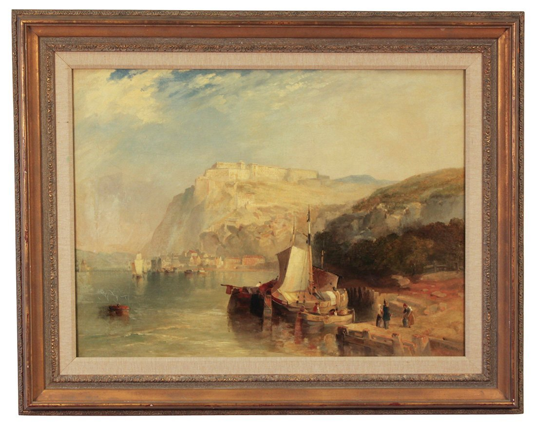 Early 19th Century Italian Shoreline Scene