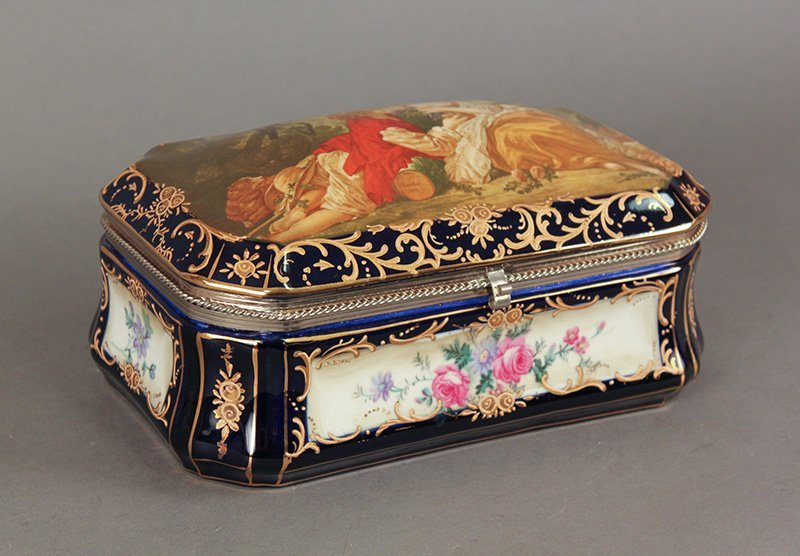 Early 20th Century Sevres Porcelain Box
