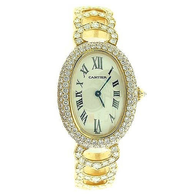 Cartier Baignoire Diamond Watch