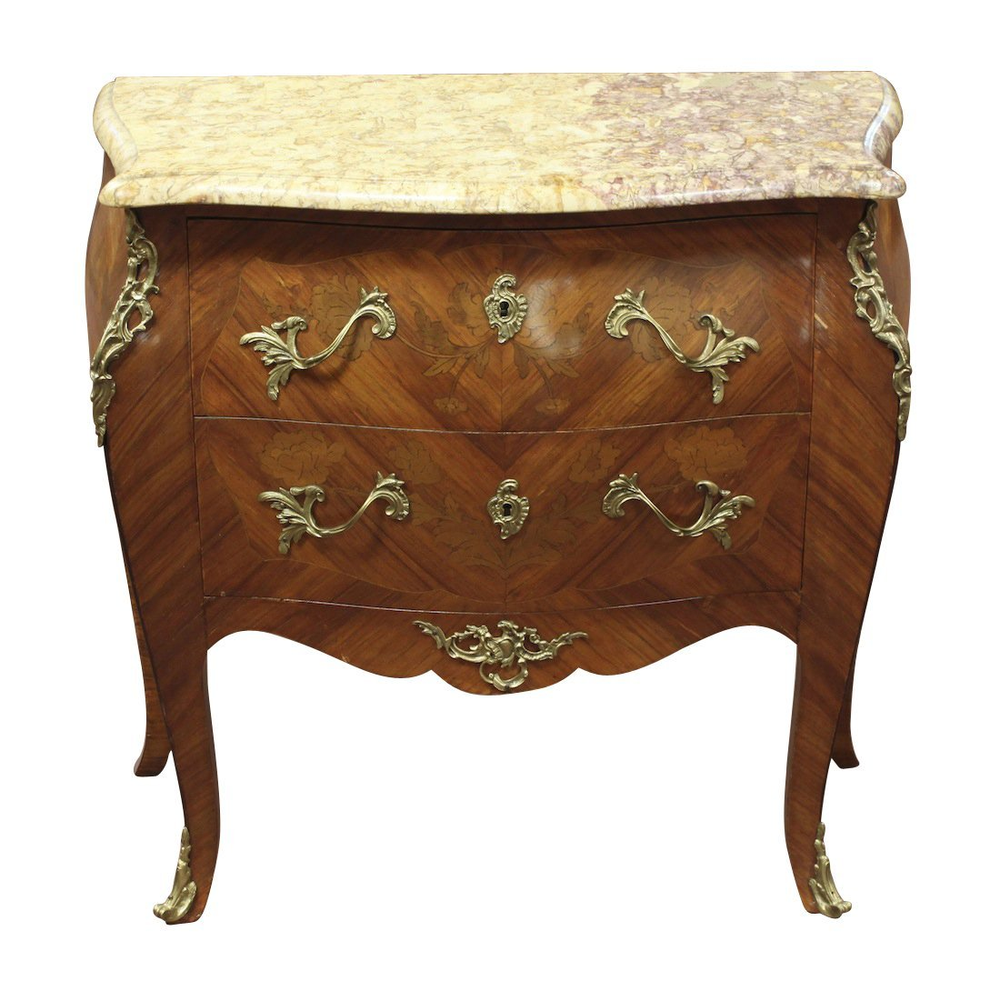 19th-Century French Kingwood Commode