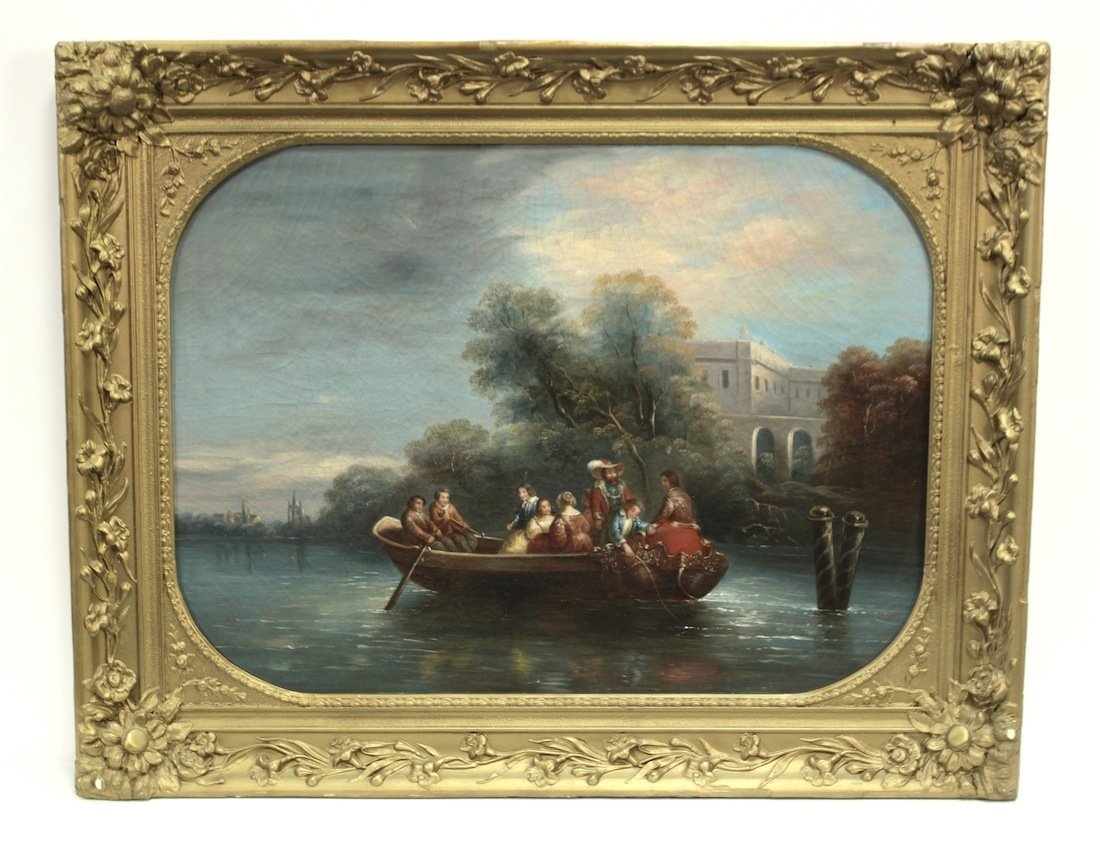 Superb Late 18th Century French Oil On Canvas