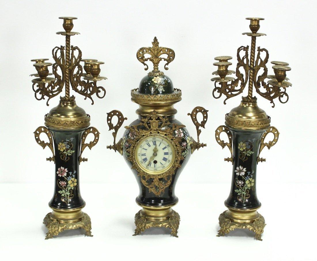19th Century French Three-piece Garniture