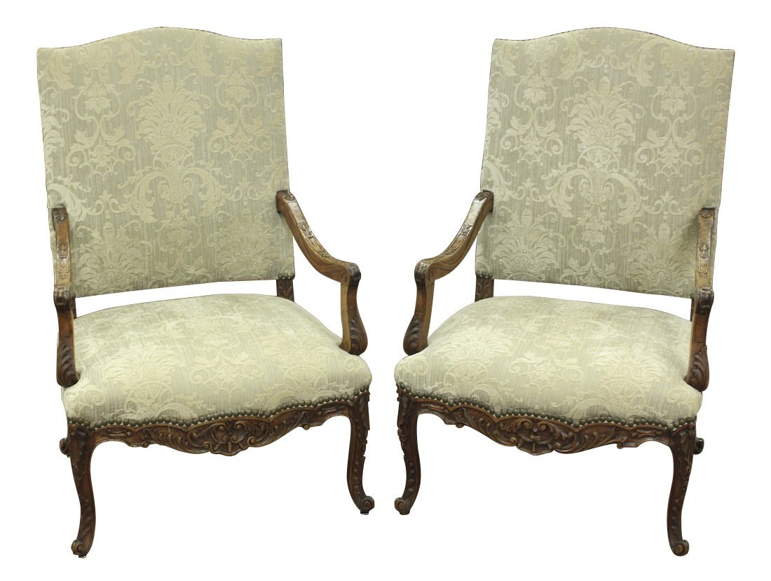 Superb Pair Of French Regency Armchairs