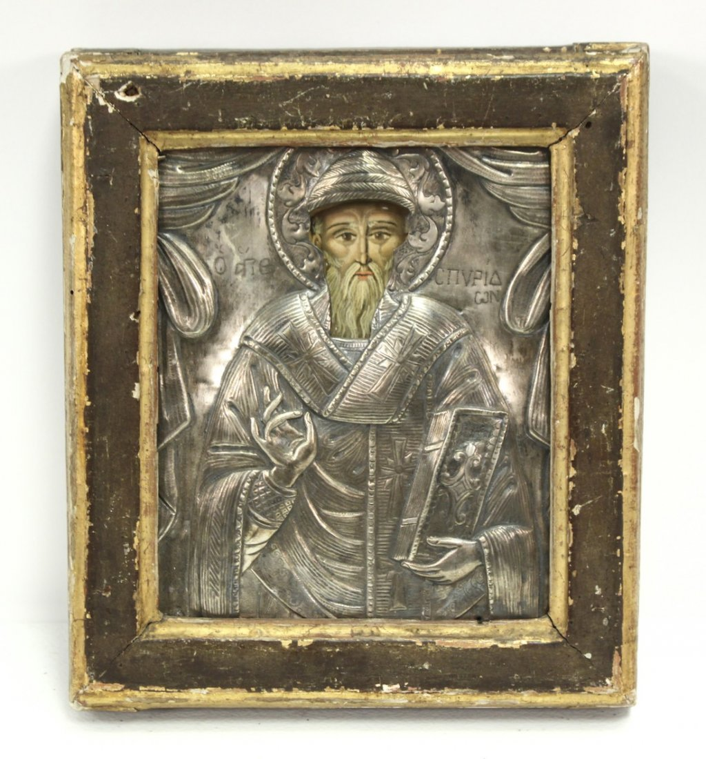 18th-Century Russian Icon, Figure Of Saint