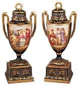 Superb Pair of 19th Century Royal Vienna Vases
