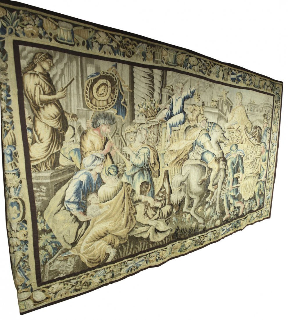 Late 17th Or Early 18th Century Flemish Tapestry
