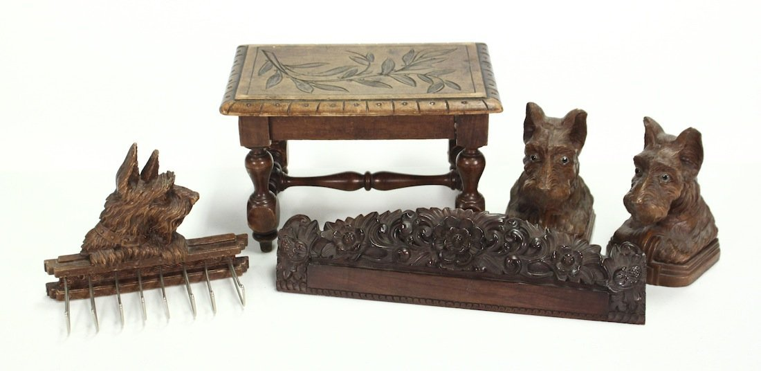 Group Of Four Miscellaneous Carved Items