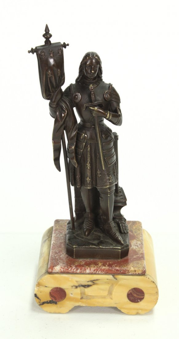 19th-Century French Bronze Figure Of Joan Of Arc