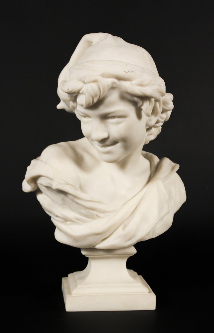 19th Century Italian Or French Marble Bust Of Boy