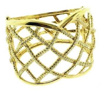 Henry Dunay Diamond Cuff Bracelet