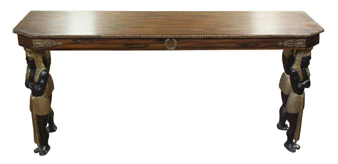 French Empire Rosewood Console Table