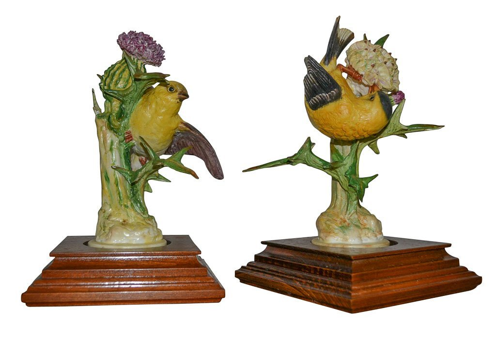 Pair Of Dorothy Doughty Birds, The Gold Finch