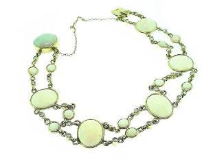 14k Opal & Diamond Bracelet