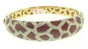 Roberto Coin 18k Diamond Bangle Bracelet