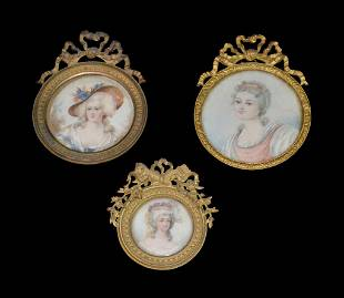 A Group Of Three Bronze Filagree Frames