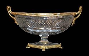 Fine Quality Heavy Cut Crystal Bowl Bowl