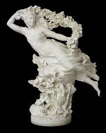Exceptional Italian Carved Marble Statue