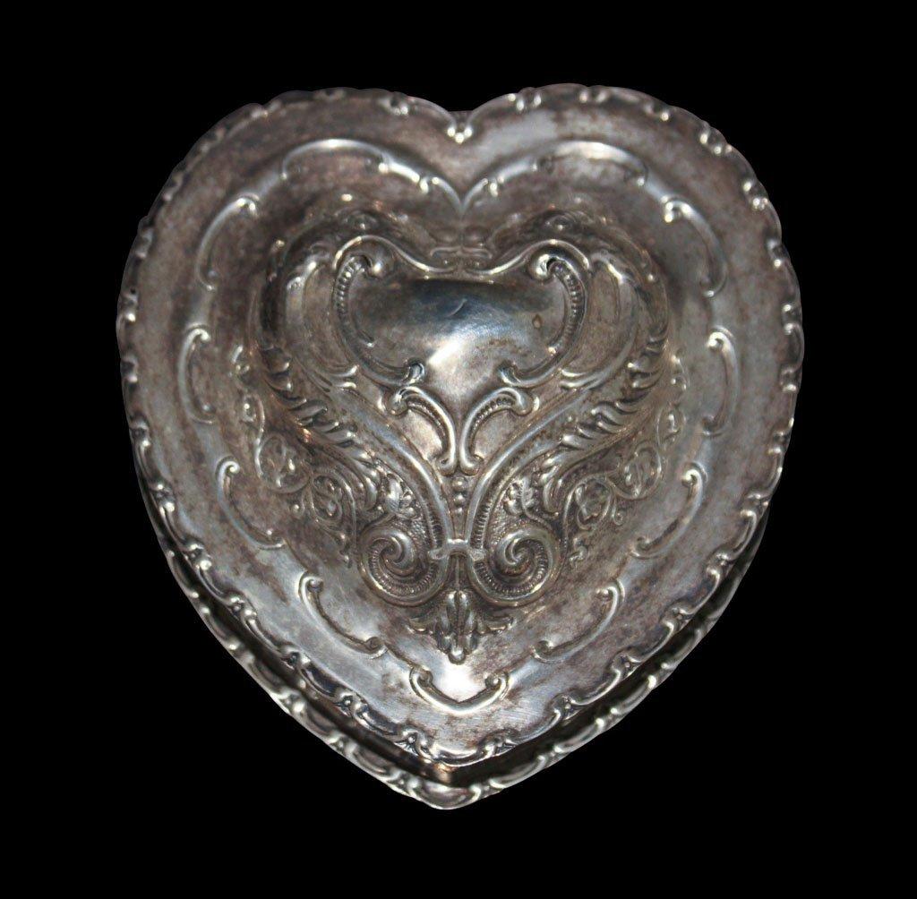 Silver Heart-shaped Box