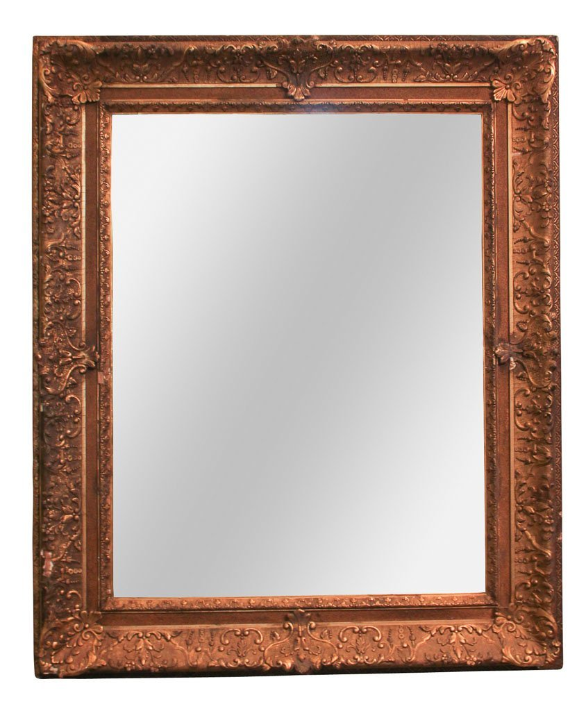 English Giltwood And Gesso Mirror