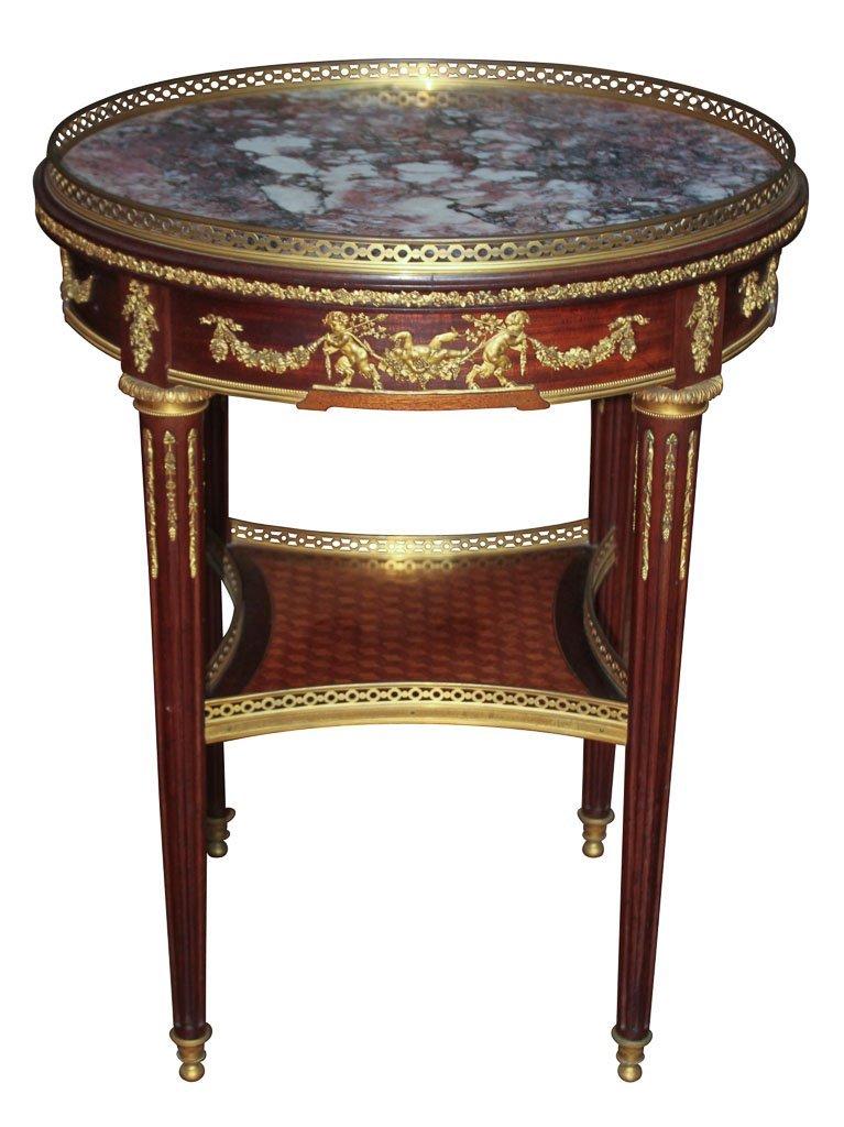 F. Linke, Signed Original 19th C. Side Table