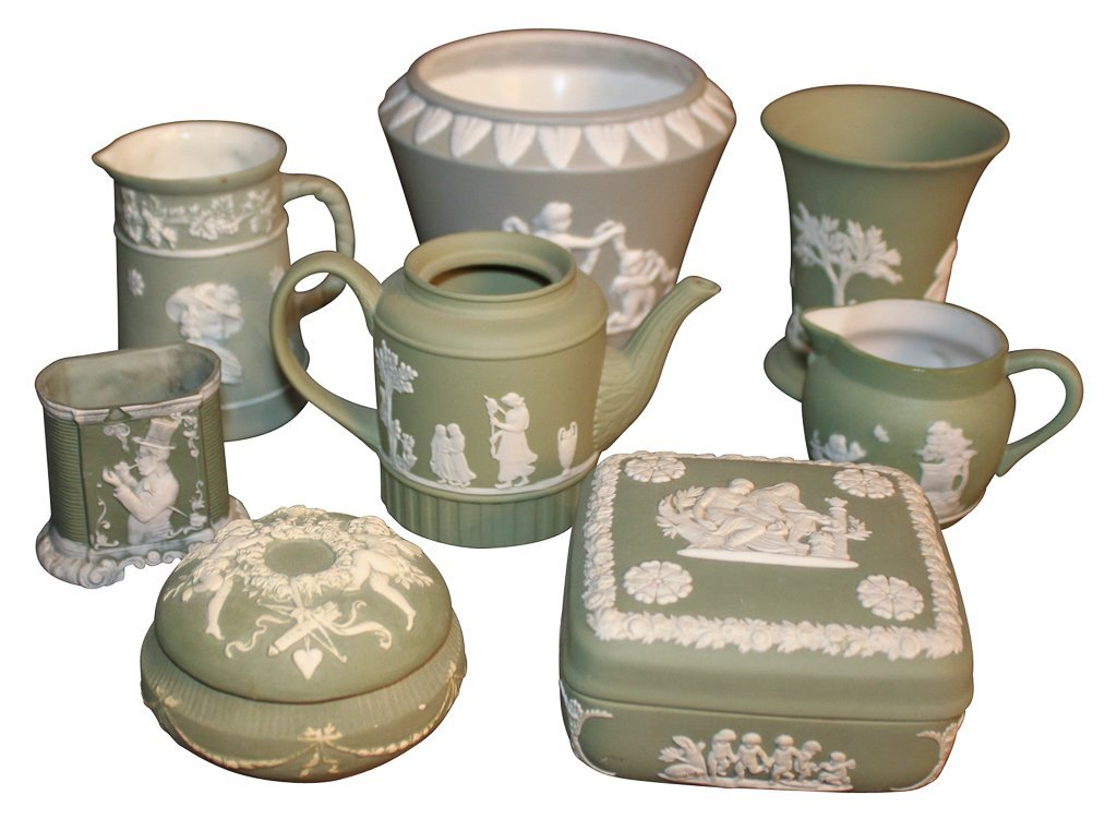 8 Pieces Of Antique English Wedgwood