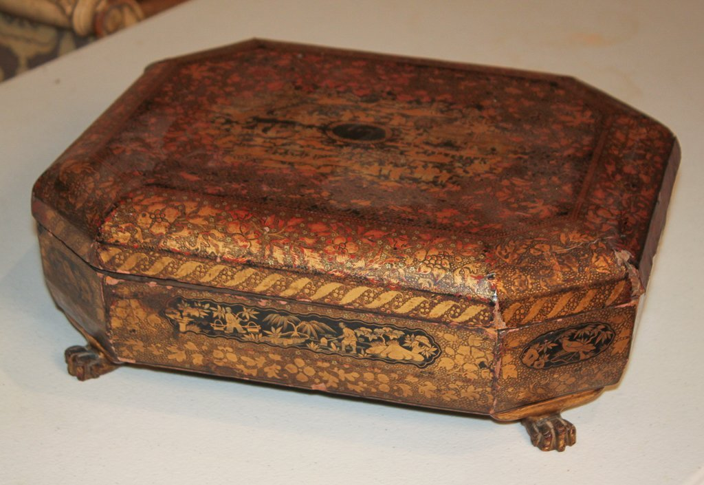 19th Century English Lacquered Tea Caddy - 4