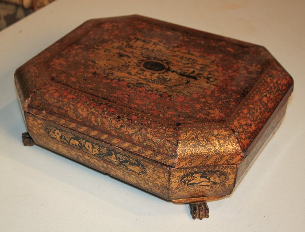 19th Century English Lacquered Tea Caddy - 6