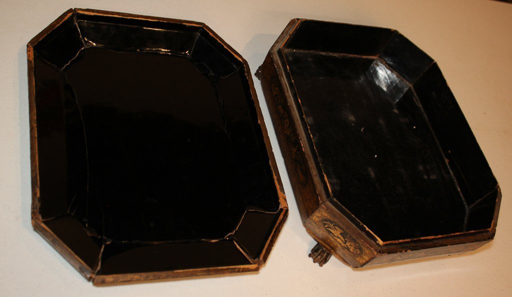 19th Century English Lacquered Tea Caddy - 7