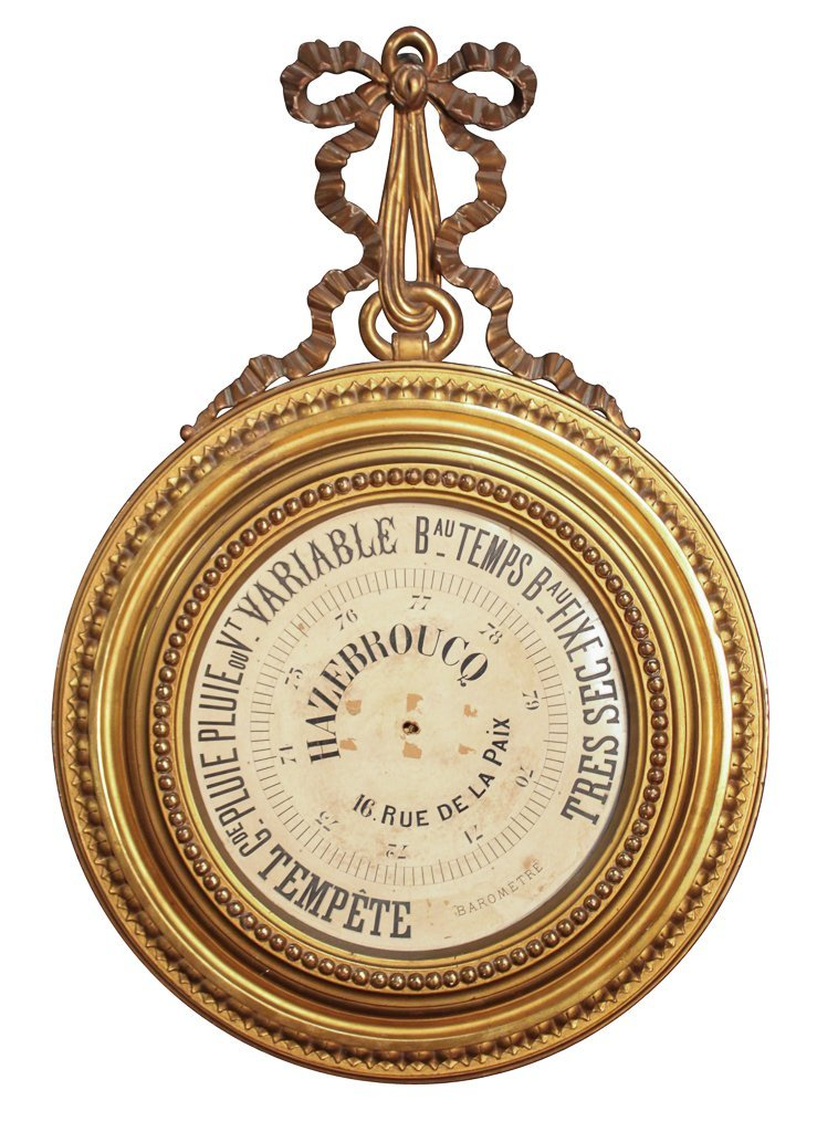 Antique French Giltwood Barometer