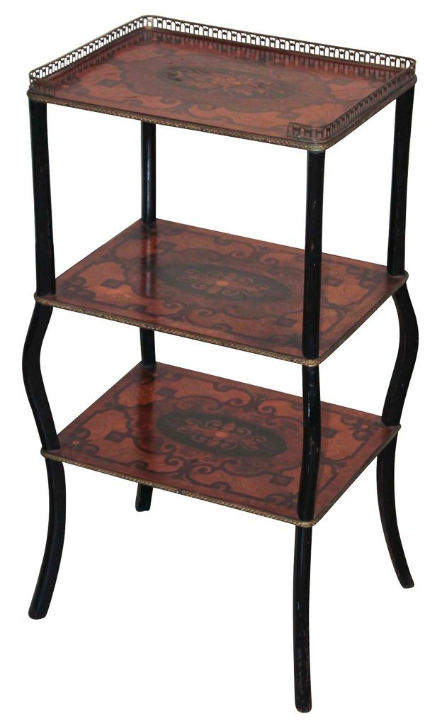 Antique Continental Inlaid Side Table