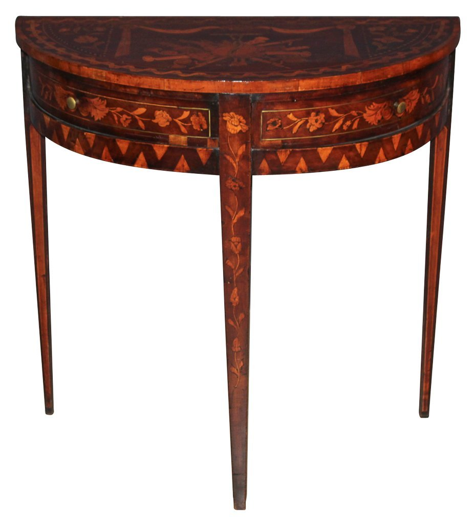 Early 19th Century Continental Marquetry