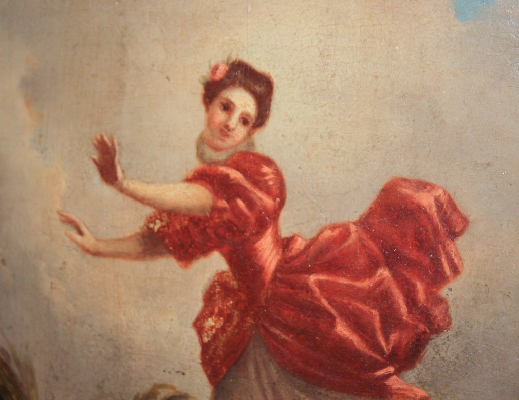 19th Century French Oil On Board Of Lady Dancing - 2