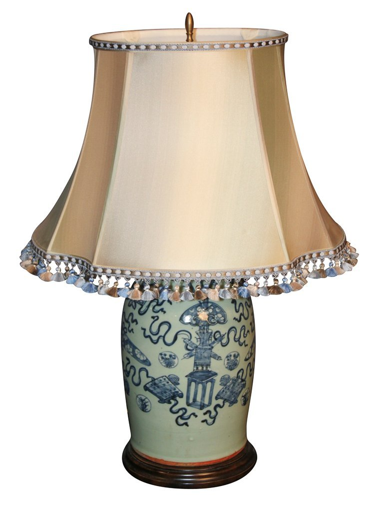 Oriental Blue And White Vase As Lamp,