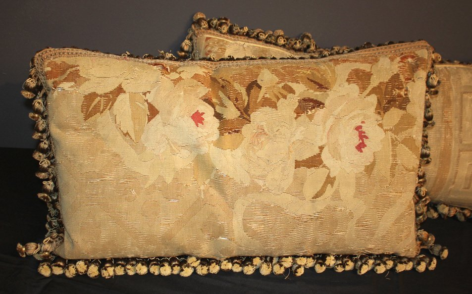 Pair Of French Aubusson Pillows - 2