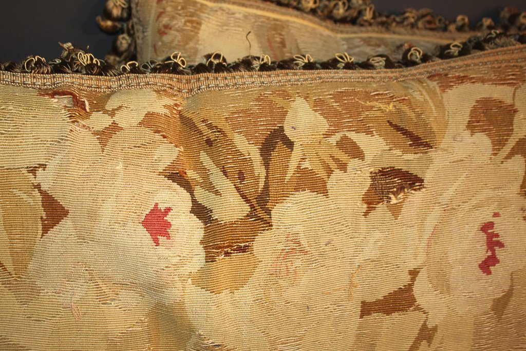 Pair Of French Aubusson Pillows - 3