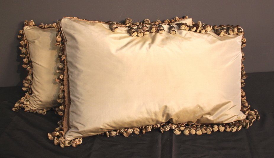 Pair Of French Aubusson Pillows - 6