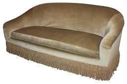 Large Custom Oversized Green Velvet Sofa