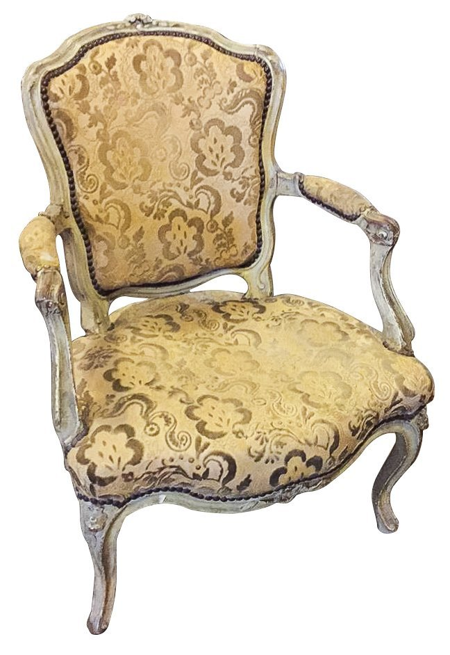 18th C. French Single Armchair,signed,
